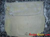 Dough being folded