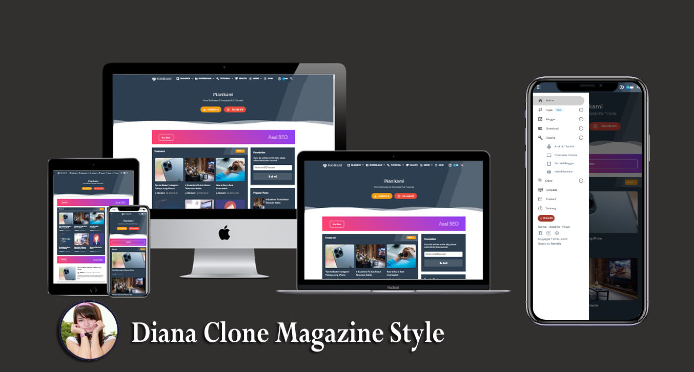 Thezacy Redezign Responsive Blogger Template