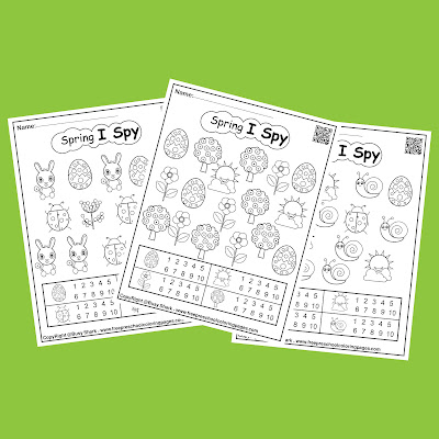 spring i spy printable free preschool coloring pages game for kids, bunny rabbit,flowers,tree,snail,sun,egg,ladybug,butterfly,chick peeps for easter holiday