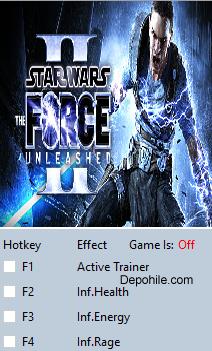Star Wars The Force Unleashed 2 (PC) Çalışan +3 Trainer Hilesi