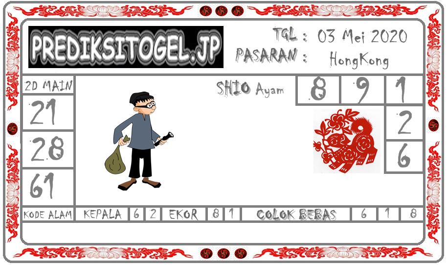 Prediksi Togel Hongkong 03 Mei 2020 - Prediksi Togel JP