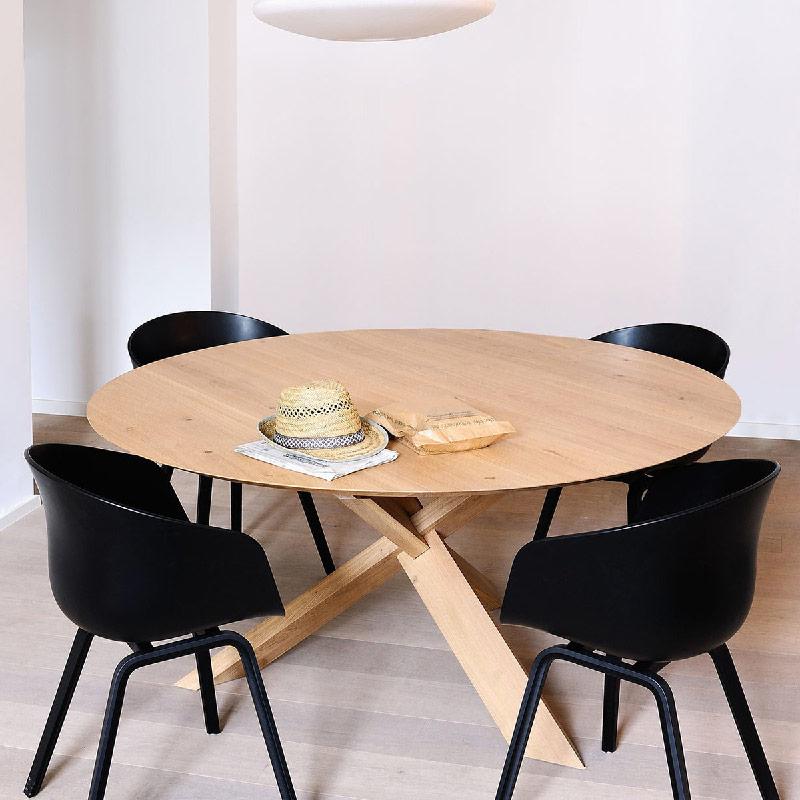 Tavolo da pranzo in legno CIRCLE di Etnicraft