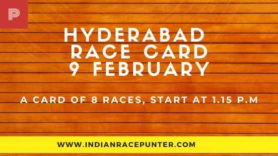 Hyderabad Race Card  9 February,