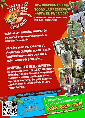 VOLVEMOS: Reapertura Valle del Jerte Parque Aventura