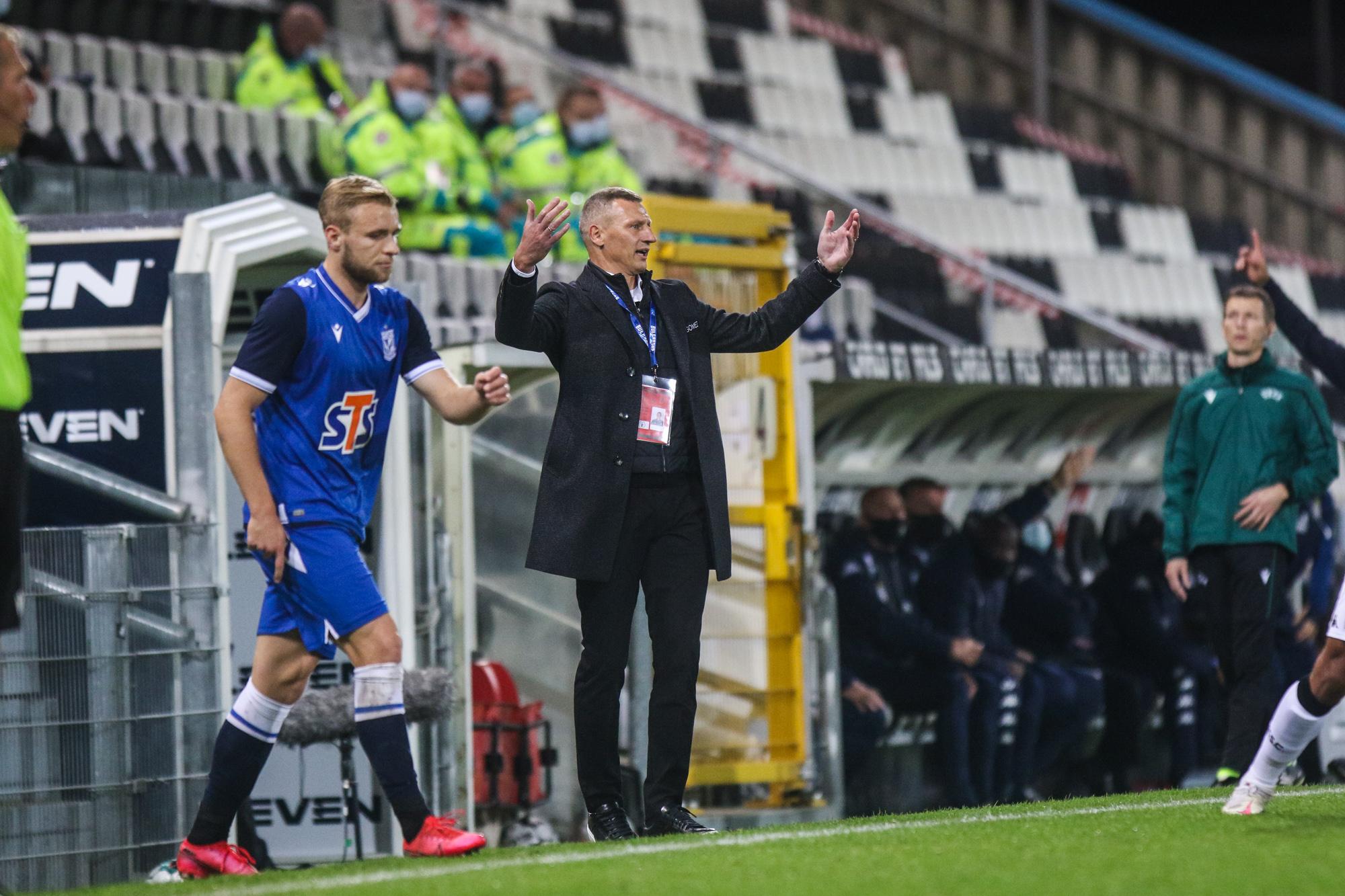 Dariusz Żuraw i Tymoteusz Puchacz /|foto: Lech Poznań / Adam Jastrzębowski