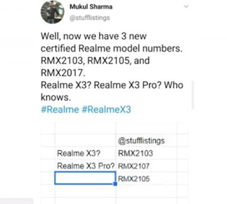 Realme X3 and X3 pro mobile phone news