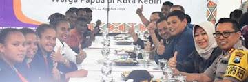 Pastikan Keamanan Warga Papua, Walikota Kediri Gelar Silaturahmi