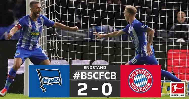 Hasil Hertha Berlin vs Bayern Munchen Skor Akhir 2-0