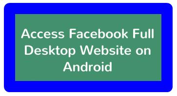 Facebook Desktop Site