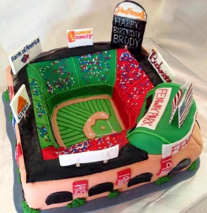 This Cake Was Made For A Little Boys 9th Birthday Who Is Big Boston Red Sox Fan So Obviously Fenway Park The Only Way To Go