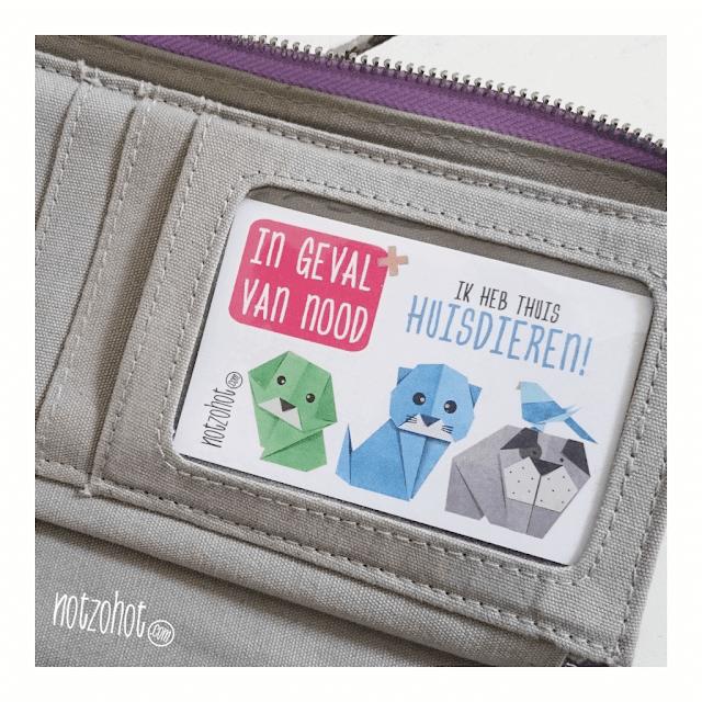 In geval van nood kaartjes ID   Wie zorgt voor jouw huisdier in geval van nood?