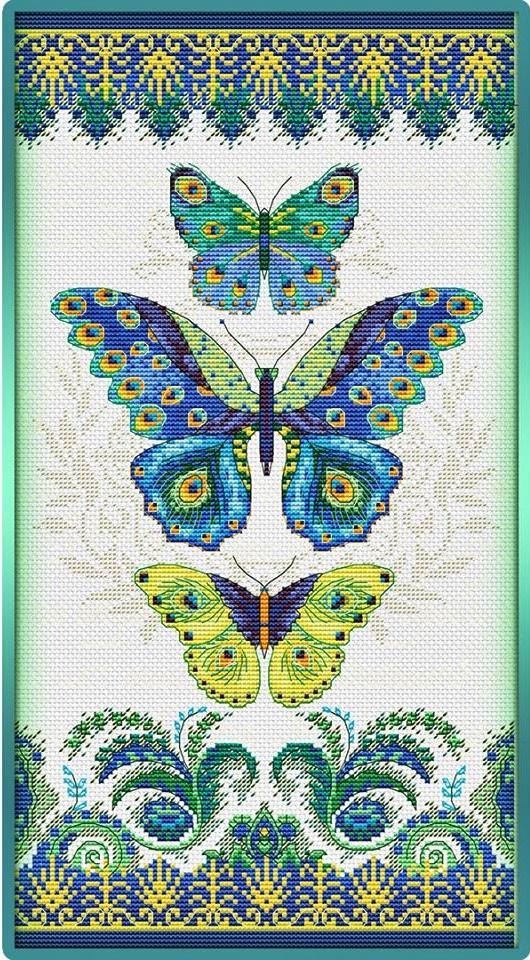 wzór darmowy motyli do haftowania