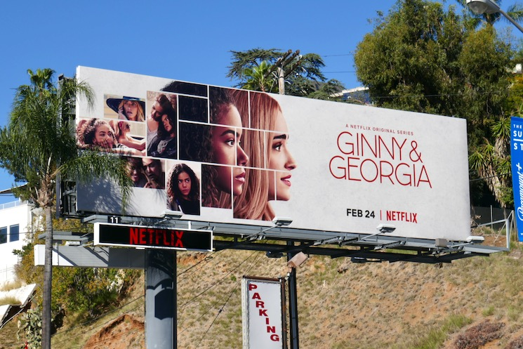Ginny & Georgia series premiere billboard
