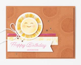 Stampin' Up! Sharing Sunshine Card ~ #stampinup