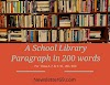 A School Library Paragraph in 200 words | Newsletter69.com