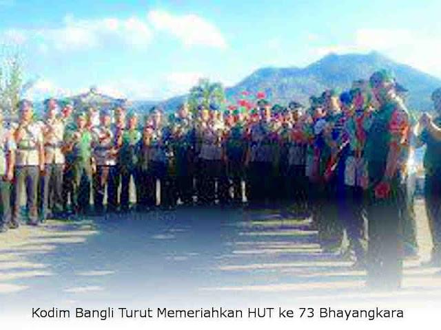 Kodim Bangli Turut Memeriahkan HUT ke 73 Bhayangkara