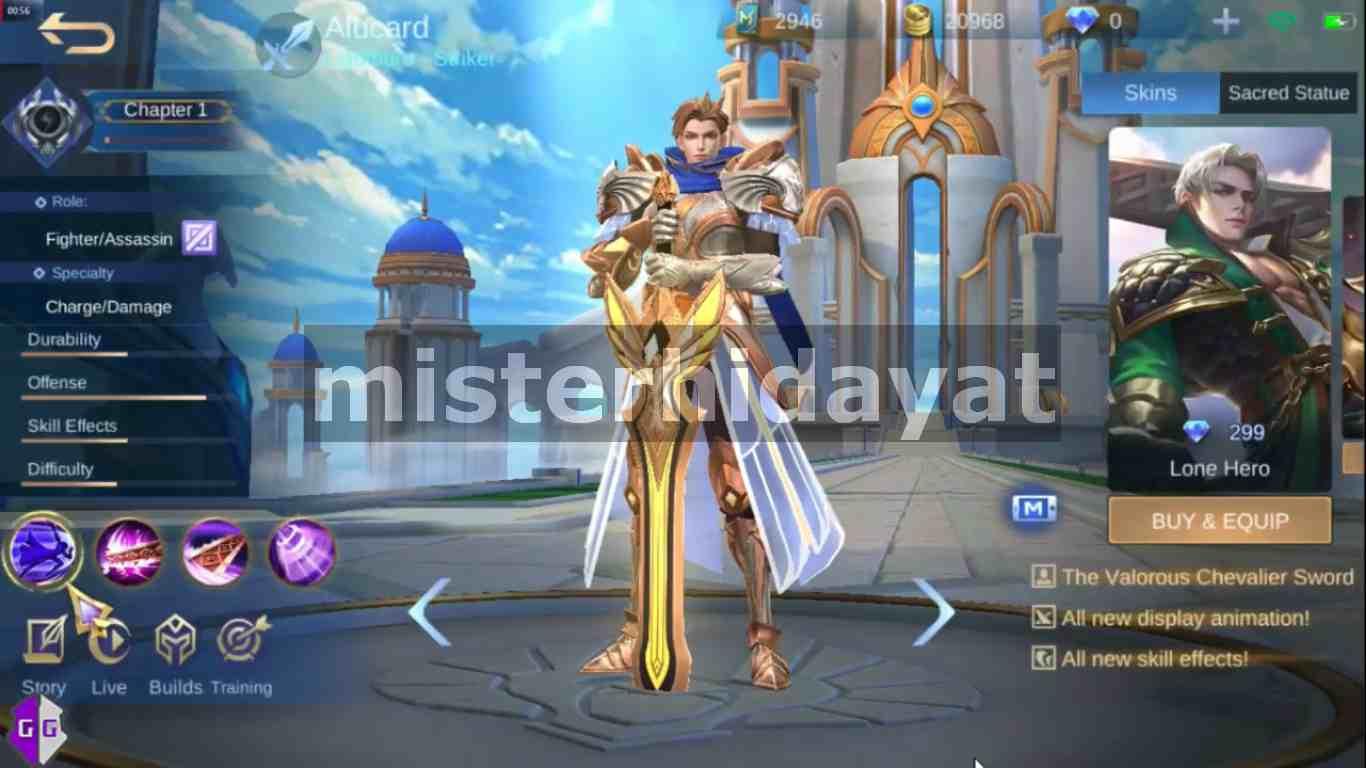 Cara Dapat Skin Alucard Lightborn Mobile Legends Gratis Full Efek