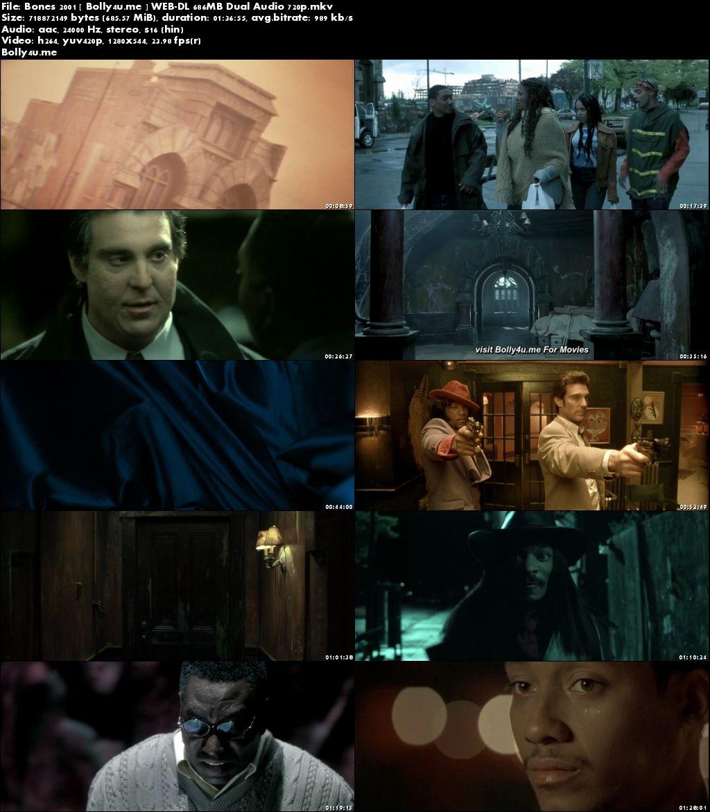 Bones 2001 WEB-DL 300MB Hindi Dubbed 480p Download