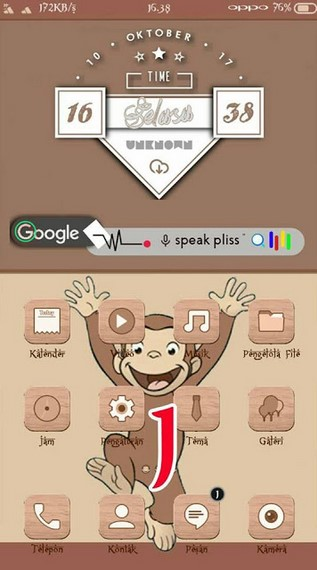 Tema iPhone untuk Oppo (ColorOS & iOS) Tembus Akar - Cool Monkey