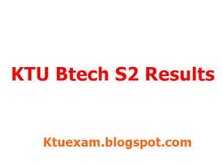 KTU B.Tech s2 Results Published 2016