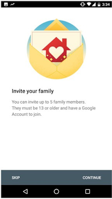Add your desired Family Members on Google Play Store