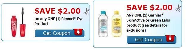print rimmel or garnier skinactive coupons