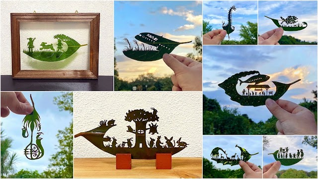 Eκπληκτικά έργα τέχνης πάνω σε φυσικά φύλλα