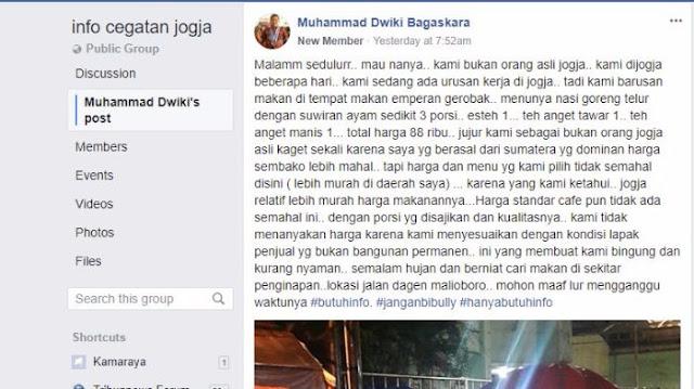 Cerita Netizen Bayar Mahal Nasi Goreng Jalanan di Yogyakarta yang Mahal