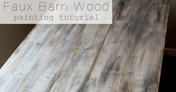 Faux Barn Wood Painting Diy Tutorial