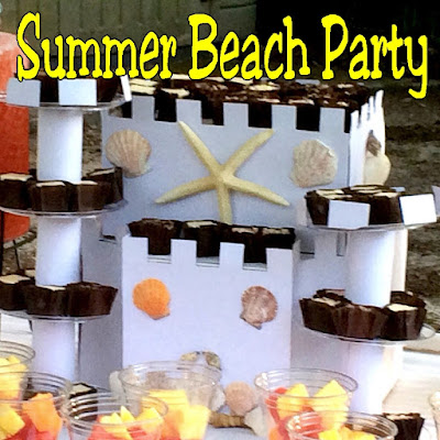 Celebrate Summer by going to the beach! Which is in your own backyard, party room, or wherever with this relaxing summer beach party.  You'll find lots of beach party ideas and tutorials to make your next party a relaxing fun time.