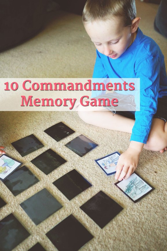 10 Commandments Memory Game | Land of Honey
