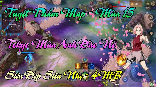 Fix Lag Liên Quân - Mod Map Hoa Anh Đào Mùa 15 Mới Nhất Siêu Đẹp, Map Tokyo Mùa Hoa Nở | HQT LAG LQM