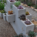 DECORATIVE GARDEN PROJECTS USING CINDER BLOCKS