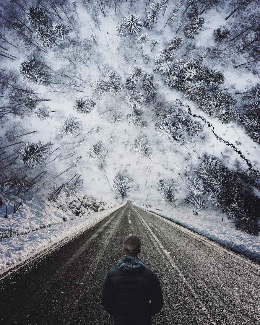01-The-Road-Less-Travelled-Francesco-Dell-Orto-Surreal-Worlds-Created-with-Photo-Manipulation-www-designstack-co