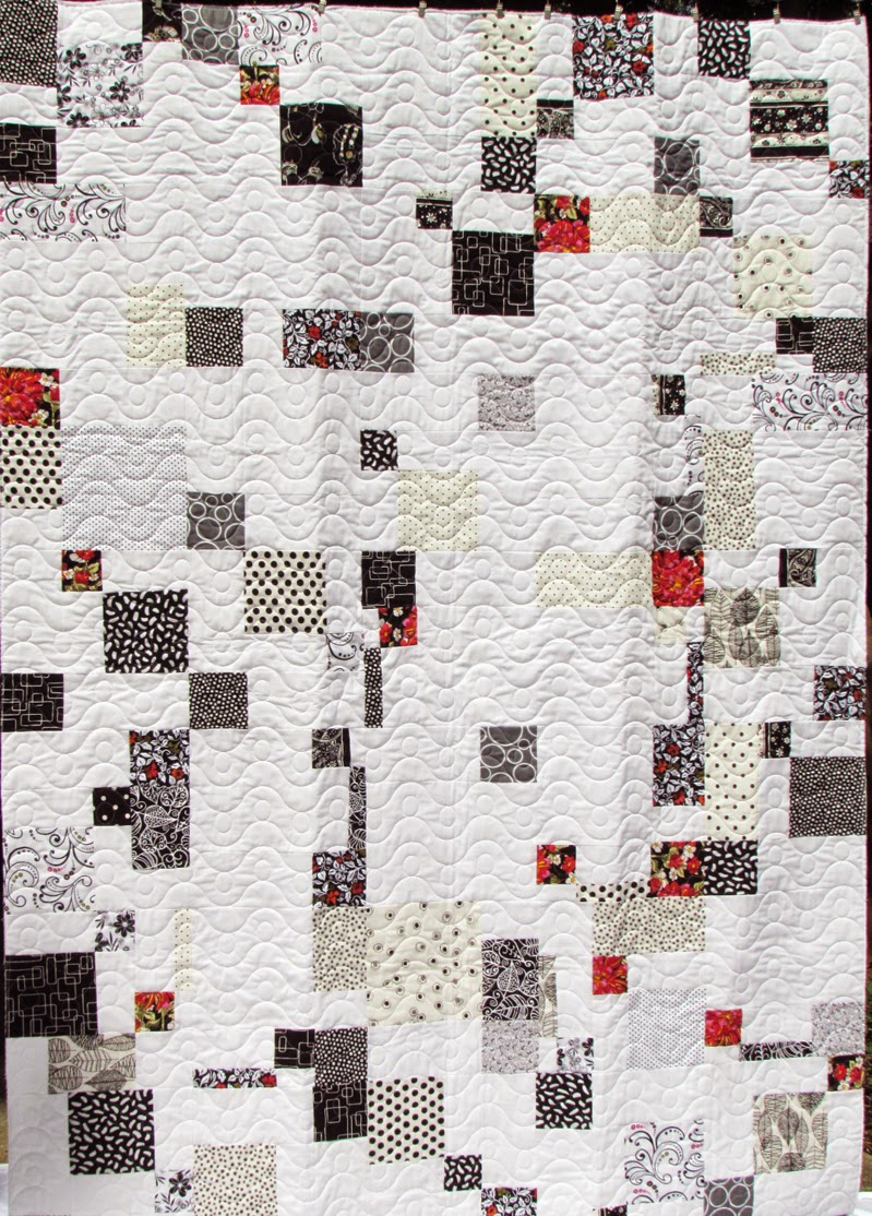 modern double disappearing 9-patch quilt by Marty Mason