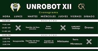 CRONOGRAMA UNRobot XII