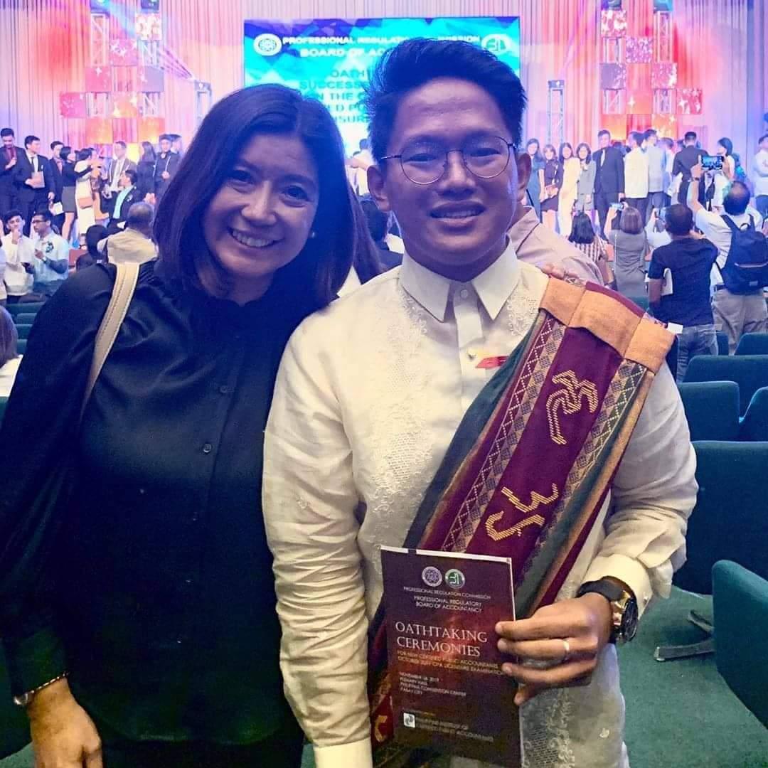 Kara David's scholar, who was a Yolanda survivor now a CPA