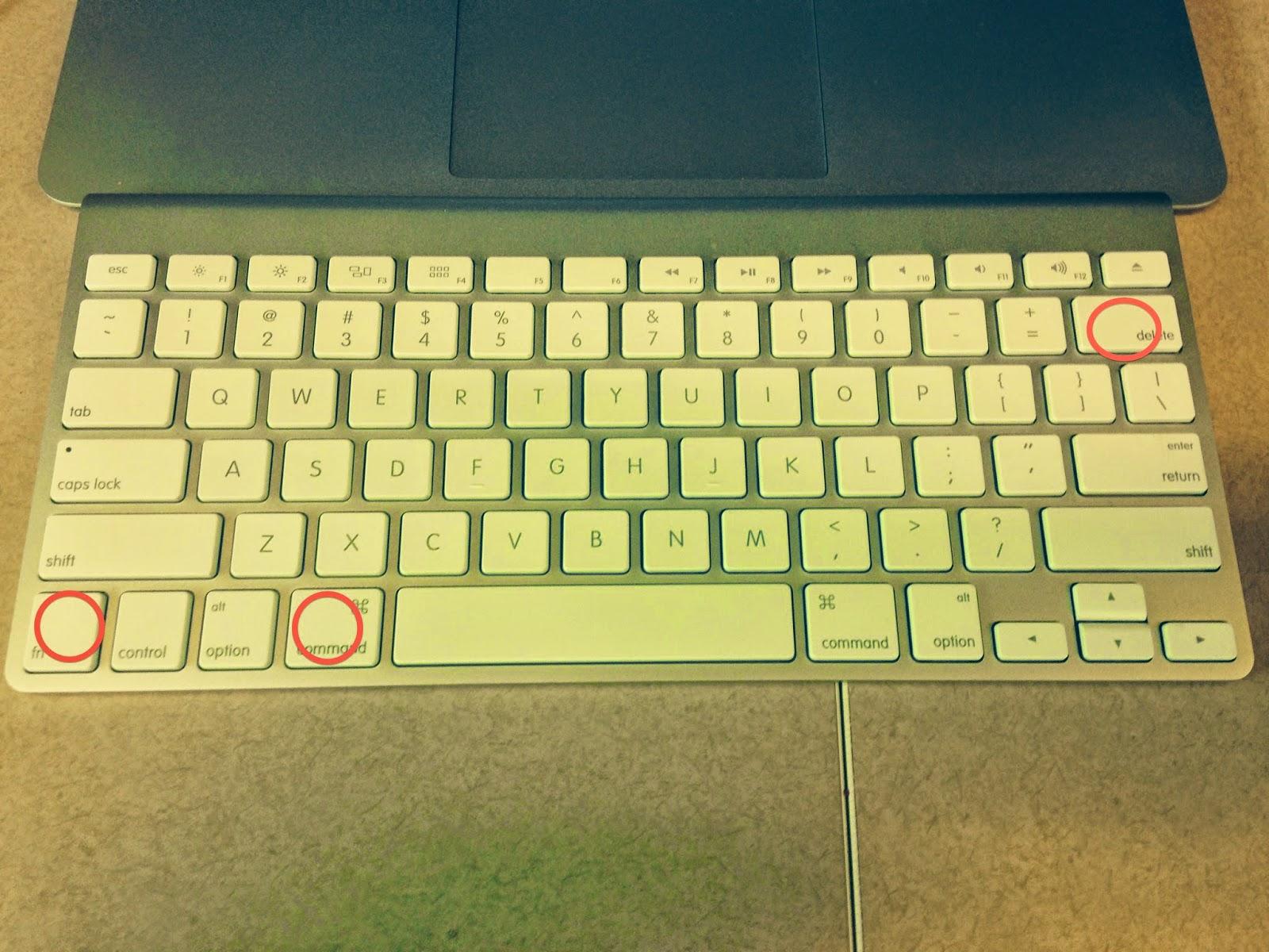 ctrl alt del mac keyboard