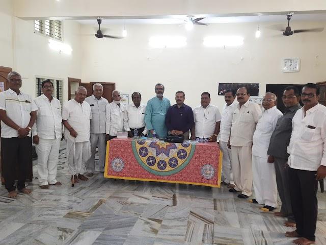 अणुविभा के राष्ट्रीय अध्यक्ष श्री संचय जैन व उपाध्यक्ष श्री अविनाश नाहर संगठन यात्रा के तहत पहुँचे हिरियूर