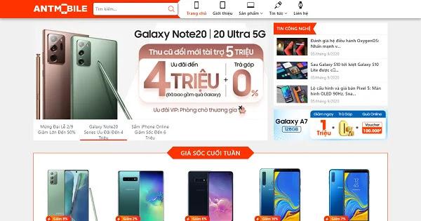 Giao diện blogspot bán điện thoại chuẩn đẹp