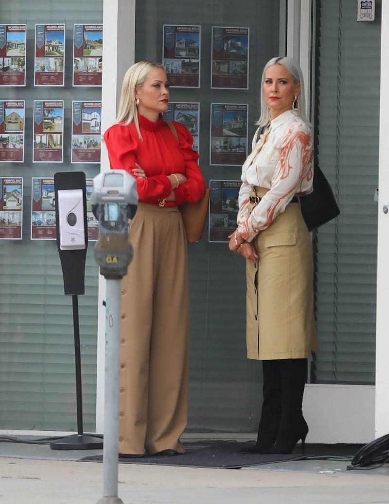 Cynthia Daniel And Brittany Daniel  on the Set of Cheaper by the Dozen Reboot in LA 13 Apr-2021
