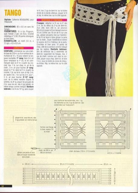 Cinturon de Crochet Tango