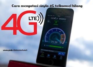 cara mengatasi sinyal 4G telkomsel hilang dan tidak muncul