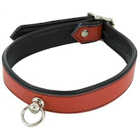 Bondage Boutique Leather Slave Collar with O-Ring