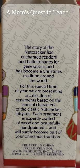 Nutcracker ornament box description