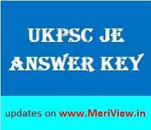 UKPSC Answer key Junior Engineer 06, 07, 08 November 2015