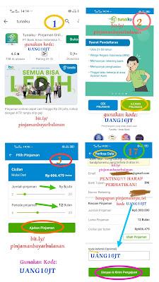 Panduan Trik Rahasia cara mengajukan Pinjaman Online Mudah di Setujui, Ajukan Pinjaman Tunaiku kode UANG10JT