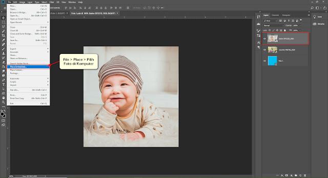 Cara memasukan foto pada smart object