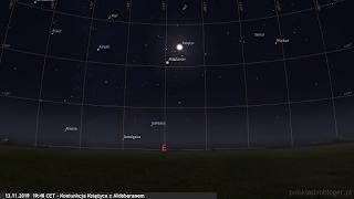 13.11.2019 - koniunkcja księżyca z Aldebaranem