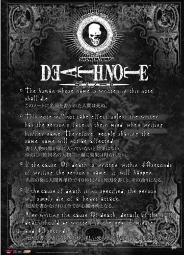 El rincon del Golem: Death Note
